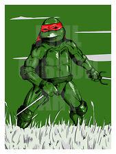Original Raphael TMNT Comic Art Print Poster Teenage Mutant Ninja Turtles Sai