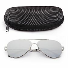 Shades Polarized Aviator Sunglasses for Women Men Vintage Driving Mirrored Case