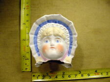 excavated painted vintage victorian bisque Doll head Hertwig & Co age 1860 A1975