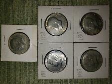 KENNEDY Half Dollar Lot of 5 ~ 1967(4), '68D(1) 40% Silver