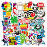 100Pcs Cute Cartoon Skateboard Stickers Vinyl Laptop Luggage Decals Dope Sticker