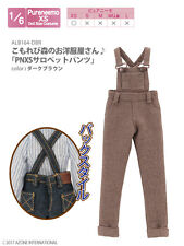 Azone Pureneemo PNXS Salopette Pants Dark Brown Blythe Dal Obitsu