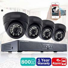 4 Indoor Outdoor IR Home Surveillance Camera System 24 LEDs 4 CH 960H DVR 65FT M