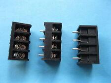 200 pcs Black 4 pin 6.35mm Screw Terminal Block Connector Barrier Type DC29B