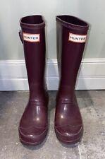Hunter Original Gloss Girls Rainboots Purple