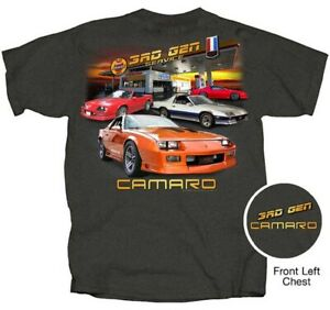 Chevrolet Camaro 3rd Generation Garage Station Gray Tee Adult XL T-Shirt