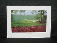 The Masters Hole #10 Camellia Augusta National  Marci L. Rule Golf Lithograph