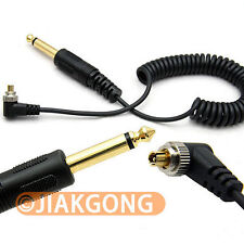 6.35mm to Male FLASH PC Sync Cable Cord with Screw Lock