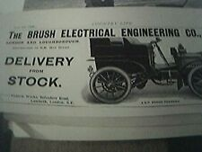 magazine item 1903 - advert the brush electrical engineering london and loughbor