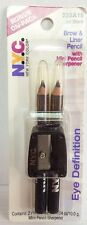Lot of 6 NYC Brow & Liner Pencil w/ Sharpener - Jet Black 223A15