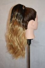 """Wrap Around Synthetic Kinky Straight Ponytail Extension 18"""" Colour 1b"""