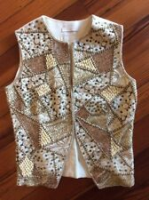 I Pinco Pallino Designer Beaded Vest Size 14 NWT Absolutely Stunnning