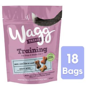 18x 125g Wagg Dog Training Treats Mini Bones Puppy, Adult, Beef, Chicken & Lamb