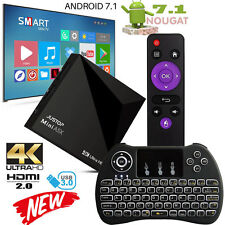 2017 A5X Android 7.1 Nougat TV Boîte KD 17.1 Média Lecteur 4K HD Wi-Fi + Mini