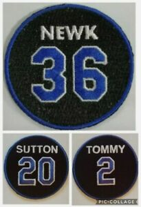 (3) Los Angeles Dodgers Memorial Jersey Patch - Tommy Lasorda /Sutton / Newcombe