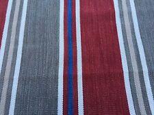 Manuel Canovas Wool Striped Upholstery Fabric- Belinda Cardinal 0.50 yd 4834-02