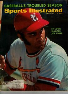 Joe Torre Sports Illustrated Magazine 4/10/1972 St Louis Cardinals
