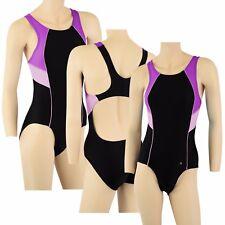 ACCLAIM Trieste Ladies Girls Racer Back Swimming Costume Swim Suit 20% Lycra