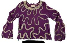 T REX MARC BOLAN OWNED AND WORN ZANDRA RHODES PURPLE AND WHITE TOP & PHOTO PROOF