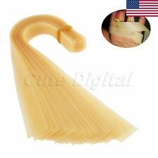 US STOCK 20Pcs Flat Rubber Band For Slingshot Catapult Replace Accessory YELLOW