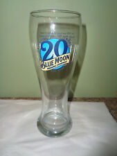 Blue Moon Brewing Company- 20th Anniversary - Tall - Pilsner Beer Glass