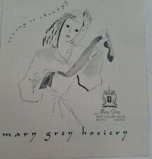 1944 womens Mary Grey hosiery stockings vintage fashion art ad