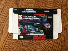 Super Nintendo SNES LETHAL ENFORCERS custom regular size box only!