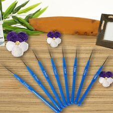 10 Size Wholesale Blue Plastic Crochet Knitted Knitting Hooks Needles~