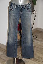 carino jeans regolare donna blu sbiadito DIESEL taglia 38/40frw29