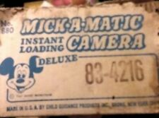 """New listing Disney """"Mick-a-matic """" Deluxe Mickey mouse Camera 1971"""