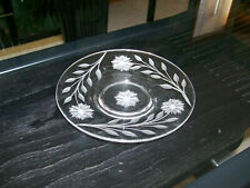 """CRYSTAL CORNFLOWER ETCHED PLATE 6"""""""