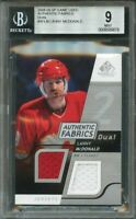 2008-09 sp game used authentic fabrics dual #aflm LANNY MCDONALD BGS 9