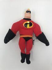 "Pixar Mr Incredible 8"" Plush Stuffed Doll The Disney Buddies Thinkway Toys Dmgd"