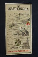 alte Karte Landkarte Shell Das Erzgebirge Erzgebirgskarte old vintage Sammler