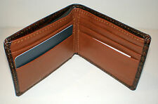 Brown Textured Leather ULTRA SLIM WALLET Roundtree & Yorke New in Box $40