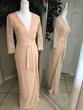 Diane Von Furstenberg Peach Juliana Lace Wrap Maxi Dress Size 2.  Used once.
