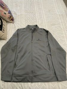 Churchill Downs Track Jacket XXL Gray Clique Lightweight Perfect Horse Racing!