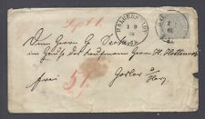 GERMANY HALBERSTADT PRUSSIA COVER 1869