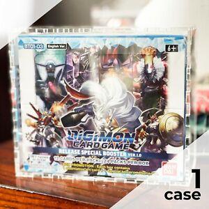 Digimon Booster Box Display Case |Framing-Grade UV-filtering Acrylic, laser-cut