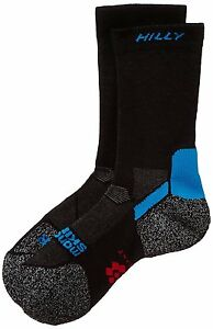 Hilly Energize Improved Circulation Running Socks Black / Electric Blue *NEW*