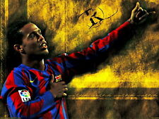 """ken 046 Ronaldinho - Barcelona Brazil Soccer football star 32""""x24"""" Poster"""