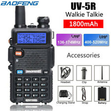 Baofeng UV-5R Dual Band UHF/VHF Two Way Ham FM Radio Free Speaker Walkie 128CH