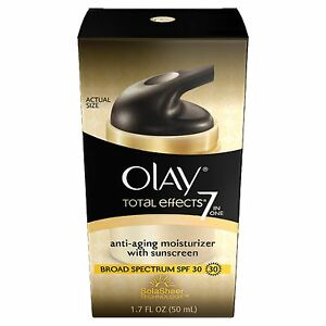 Olay Total Effects 7-in-1 Anti-Aging Daily Moisturizer With SPF 30, 1.7 Fl Oz