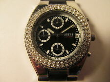 Guess Crystal Watch G15068L. Water Resistant. Japan Mov't. Check Pictures