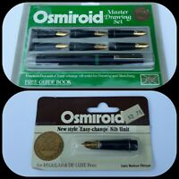 Osmiroid Master Drawing Sketching Art Calligraphy Nibs 22K Gold Plated NOS HTF