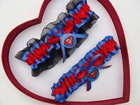 New Handmade Superman Wedding Garter Blue Red Black Yellow Superhero Garter Prom