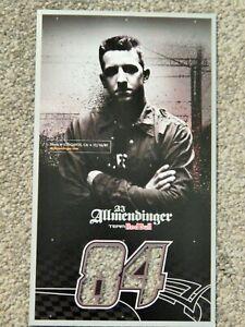 """NASCAR 2007 Team Red Bull AJ ALLMENDINGER 8""""x4"""" B&W Promo DIE-CUT Card Photo"""