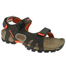 MENS HI-TEC ZAMORO ULTRA BROWN/ORANGE LIGHTWEIGHT ADJUSTABLE WALKING SANDALS