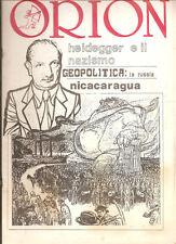 ORION RIVISTA HEIDEGGER E IL NAZISMO N.2 ANNO V 1988
