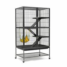 Large Wrought Iron 4 Level Cat Ferret Cage Rabit Chinchilla Glider Hutch Wheel